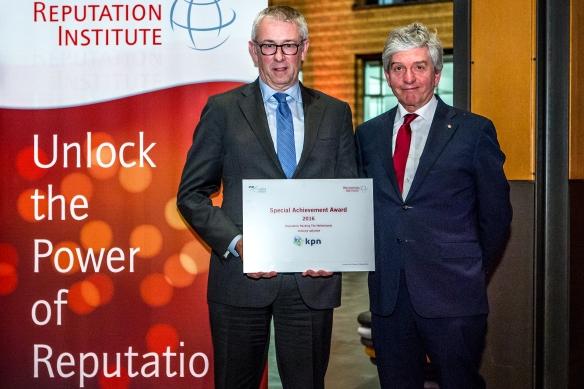 CEO van Koninklijke KPN NV. Eelco Blok en Co-Founder van het Reputation Institute prof.dr. Cees van Riel